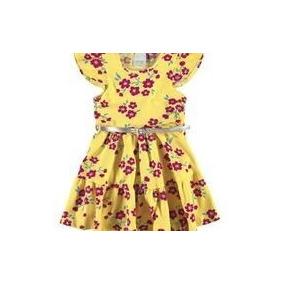 Vestido Malwee Amarelo Com Cinto