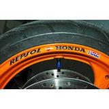 Calcos Adhesivos Llantas Honda Repsol