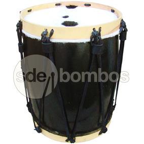 Bombo Legüero Profesional Negro 35-37x46 Cm Santiagueño
