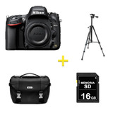 Cámara Nikon D610 Solo Cuerpo + Sd 16 Gb/ Trípode/ Maletín