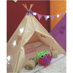 Cabanas Infantis Para Festa Do Pijama Cor Crua - 2 Unidades