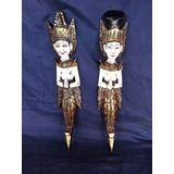 Par De Esculturas Mascaras Egípcias Deusas Frete Gratis