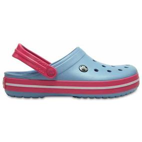 Zapato Crocs Dama Crocband Azul Claro/rosa