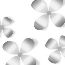 Set X9 Flores Metálicas De Pared Wallflower Nickel Morph