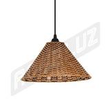Luminária Pendente - Palha Artificial - Chapéu Chinês - 4879