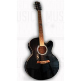Guitarra Electroacústica Memphis A1812cet Negra Eq Afinador