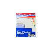 Kleer Fax Pdq Table Of Contents Dividers 5 Tab Set One