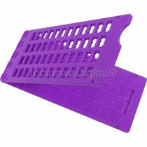 Reglete Positivo Escrita Braille 12c ~ 4l + Lilás