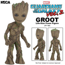 Baby Groot Guardiões Galaxia Guardians Galaxy 2 Neca Replica