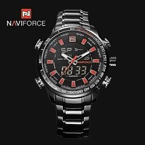Relógios Naviforce 9093 Marca De Luxo De Aço + Nfe
