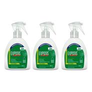 03 Unidades - Exposis Repelente Em Spray Com Gatilho 200ml