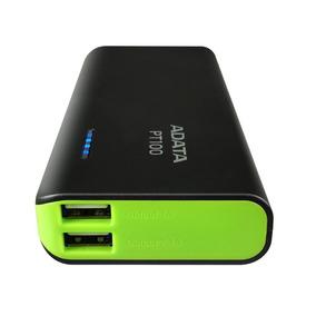 Cargador Portatil Adata Power Bank Pt100 10000 Mah Flash Led