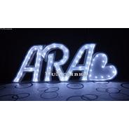 Nombres Iluminados 3 Letras 40 Cm - Polyfan Cartel Con Luces