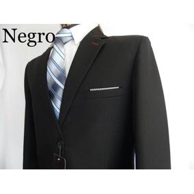 Trajes Para Caballero, Color Negro Precio Directo De Fabrica