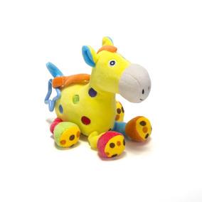 Cavalo Amarelo De Pelúcia - Chocalho Infantil - Unik Toys