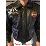 Jaqueta Couro Sintético Infantil Juvenil Harley Davidson
