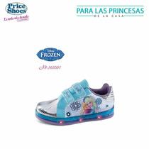 Tenis Frozen Price Shoes Con Luz, Nuevos Para Niña