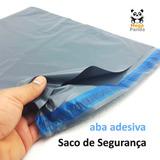 100 Envelopes De Segurança 60x70 Sacos Plástico Aba Adesiva