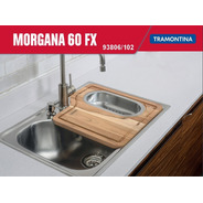 Cuba De Sobrepor Aço Tramontina Morgana 60 Fx 68x50cm + Lixe
