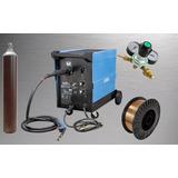 Maquina Solda Mig Mag 210 Amp 220v Completa Cilindro + Arame