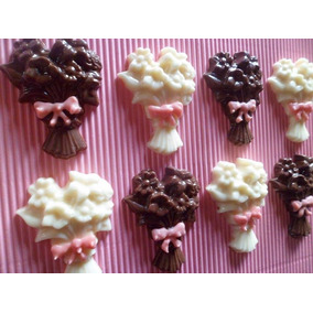 Paleta Chupetin Bombon Chocolate Ramo Flores Dia De La Madre