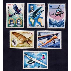(12069) Selos Polônia 1978 Aviões Antigos Novos Com Goma