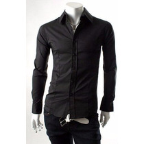 Kit 12 Camisas Masculina Slim Social Atacado