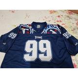 Camisa Futebol Americano Titans Puma - Nr 99 - Xl - Bordada