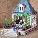 Playmobil Pabellon Victoriano Casa Piano Y 9 Personajes N