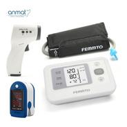 Kit Tensiometro Digital + Oximetro Dedo Y Termometro Digital