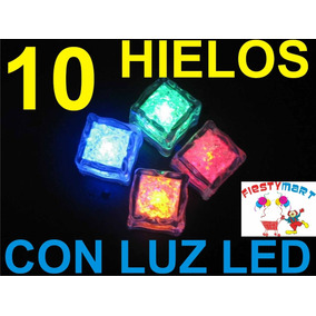 10 Cubos Led Luz Fiestas Hielo Batucada Luminoso Boda Xv Dj