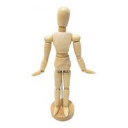 Boneco Articulado Madeira Desenho Manequim 20 Cm Modelo