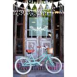 Bici Vintage Rod20 Nena Verde Agua Mimbre Libelabikes