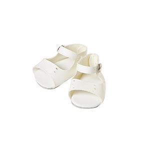 Zapatos De Muñeca De Sandalias Blancas - Ropa De Muñeca De