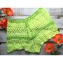 Short Tejido A Mano Crochet Verano Playa Divino Colores