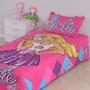 Cubrecama Reversible + Funda De Almohada Barbie Piñata