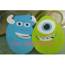 Bolsitas Golosineras Nenas Monster Inc En Goma Eva