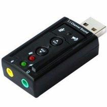 Placa De Sonido Usb 7.1 Conecta Parlantes Auricular Microfon