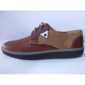 Zapato Cordones Hombre Marrón Gamuzado