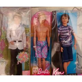 Barbie- 3 Boneco Ken Ryan Praia Noivo Mattel Diferentes