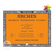 Bloc De Hojas Arches Acuarela 31x41 Grano Grueso 300g 20h