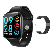 Relógio Inteligente P80 Smartwatch Preto C/ 2 Pulseiras