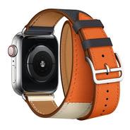 Pulseira Estilo Hermes 2 Voltas P Apple Watch 42/44mm 3cores