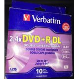 Dvd Verbatim Dvd + R Dl 8.5 Gb 2.4x - Rw