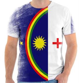 Camiseta, Camisa Bandeira Do Estado De Pernambuco