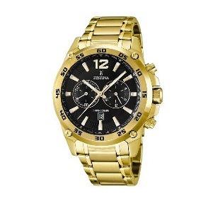 Relógio Festina Masculino Aço Dourado