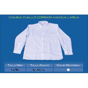 Camisa Cuello Corbata Colegio Manga Larga Excelente Calidad