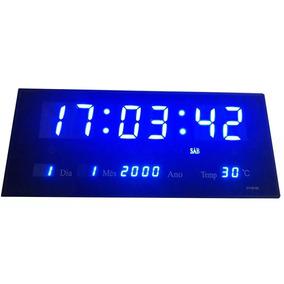 Relógio De Parede Gigante Painel Led Digital Calendário Hora