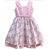 Vestido Infantil Festa Floral Barbie 1 Ao 16 Anos Com Tiara