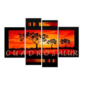 cuadros abstractos paisajes pintados a mano modernos